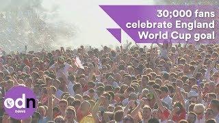 30,000 fans in Hyde Park celebrate England goal in World Cup semi-final