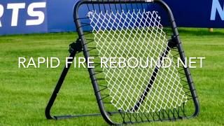 Rapid Fire Rebound Net (Crazy Catch) Review Test by 8 year old Goalkeeper Football Training
