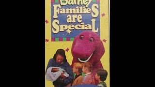Opening & Closing To Barney:Families Are Special 1995 VHS