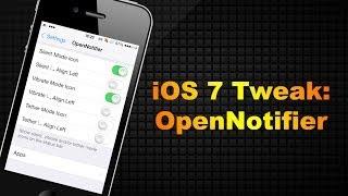OpenNotifier | iOS 7 Cydia Tweak