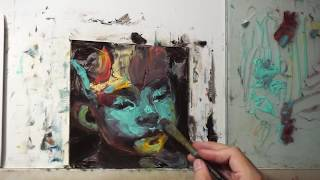 Portrait Painting From Abstraction