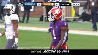 Citadel vs Clemson College Football Condensed Game 2017