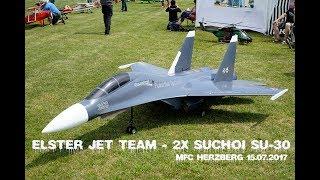 ELSTER JET TEAM - 2x SUCHOI SU-30MK - GIGANTIC RC JET - BEST OF SHOW / 2017 MFC HERZBERG