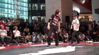 Eri (Keep it real) VS Ryuichi (ARIA) - top16 battle - RedBull BC ONE Tokyo Cypher 2011
