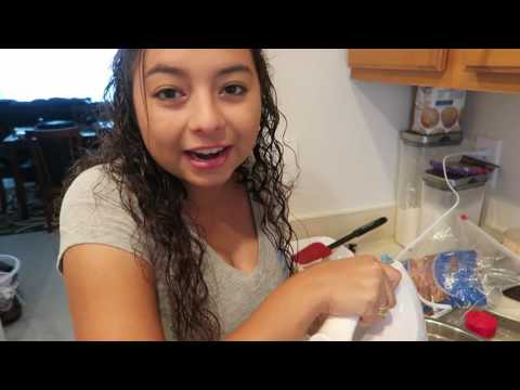 Cooking with Crystal and her handsome assistant