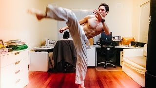 10,000 reps fight training (8575 kicks total) COMMENTARY