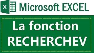 La fonction RECHERCHEV (VLOOKUP)  sous Microsoft Excel