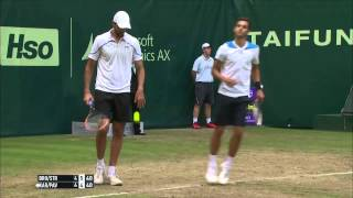 Halle 2014 Friday Highlights Doubles Brown Struff