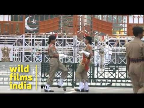 India-Pakistan Wagah border and amusing display of one-upmanship!