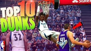 NBA 2K17 TOP 10 DUNKS - Putbacks, Lobs & Leaps