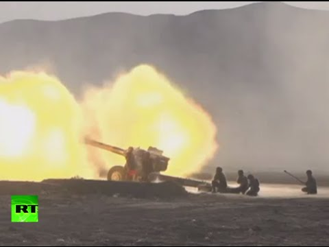 watch RAW: China massive artillery live-fire drill