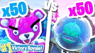 INSANE FORTNITE BATTLE ROYALE 50 vs 50!!!