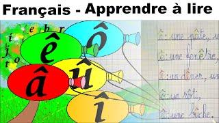 Français Maternelle apprendre à lire au CP et écrire : â ê î ô û
