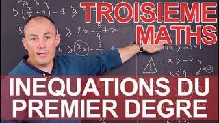 Les inéquations du 1er degré - Maths - 3e - Les Bons Profs