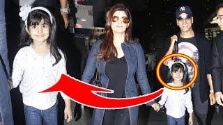 Akshay Kumar CUTE Daughter Nitara & Wife Twinkle Khanna Spotted At Mumbai Airport