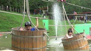 アスレチック ターザンマニアに挑戦!! 相模湖 おでかけ こうくんねみちゃん Tarzan Mania Athletic