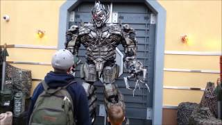 Megatron gets pissed at me in Universal Studios