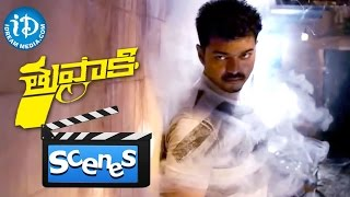 Thuppakki Movie Scenes - Vijay Fights With Terrorists For Kidnaping His Sister And Other Girls