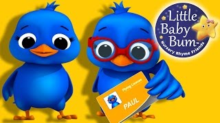 Two Little Dicky Birds | Nursery Rhymes | By LittleBabyBum!