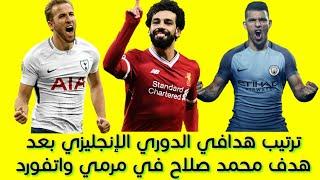ترتيب هدافي الدوري الإنجليزي بعد هدف محمد صلاح في مرمي واتفورد