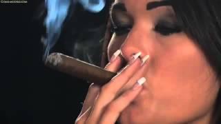Cigar Smoking   Sexy Model Charley Atwell smoking cigars