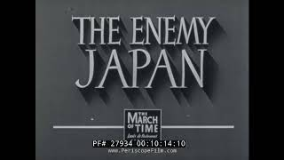 "WWII U.S. FILM   ""THE ENEMY JAPAN""  PART I: THE LAND +  PART II: THE PEOPLE   27934"