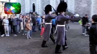 Make Way for Queen's Guards!... At the Tower of London, England.