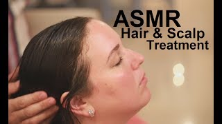 ASMR Coconut Oil Hair Treatment   Scalp Massage   Brushing & Combing