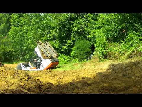 rolling over a bobcat