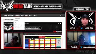 How to WIN NBA FanDuel GPPs PART II w/ @CK_013 & @PaulieDDDDDDDD