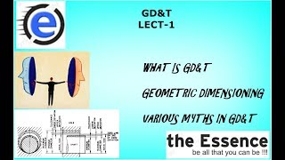 GEOMETRIC DIMENSIONING AND TOLERANCING (GD&T) LECT 1