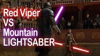 Game of Thrones Lightsaber Duel - Red Viper VS The Mountain