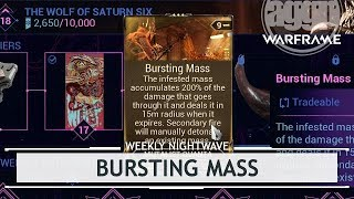 Warframe: Bursting Mass 90,000 Points of Damage!? [weeklynightwave]