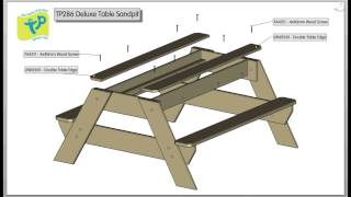 TP Deluxe Picnic Table Sandpit Assembly - TP286