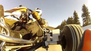 Ice Karting Film with a CRG kart powered by Rotax
