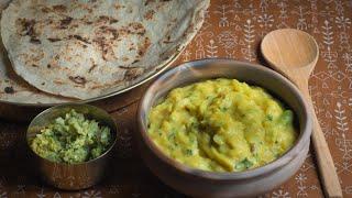 DINNER PLATE II BESAN BHAKRI II HOW TO MAKE BHAKRI AND BESAN II SWATI