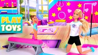 Barbie vs Elsa Sports Challenge Competition - Barbie girl dolls vs Frozen team - funny kids video