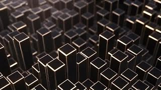Black And Gold Prism Background 4K Stock Motion Graphics