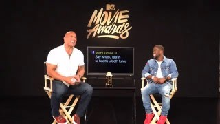 UNCENSORED Live Promo Shoot With Dwayne Johnson & Kevin Hart | 2016 MTV Movie Awards