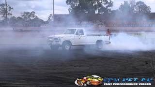 FORD V8 F100 BURNOUTS ARCHERFIELD SPEEDWAY 24.3.2013