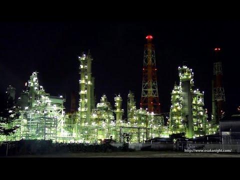 工場夜景 堺泉北臨海工業地帯 Sakai Senboku Coastal Industrial Zone Night Osaka Japan