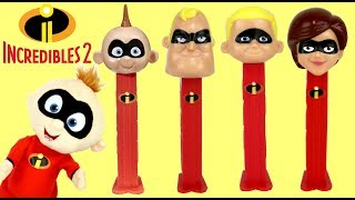The Incredibles 2 PEZ Candy Dispensers with Light Up Fighting Jack-Jack