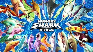 ALL 25 SHARKS UNLOCKED (HUNGRY SHARK WORLD)