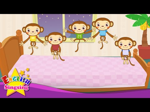 Five Little Monkeys Jumping on the Bed - Nursery Popular Rhymes - English Song For Kids - Music