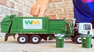 Garbage Truck Videos For Children l First Gear Mack Side Loader Unboxing!  l Garbage Trucks Rule