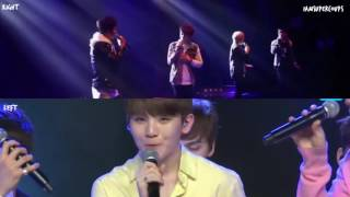 Pre & Post-debut Seventeen Vocal Unit singing Butterfly Grave (Split Audio Ver.)
