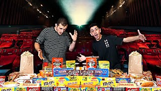 Eating the ENTIRE Movie Theater MENU!! **25,000 CALORIES**