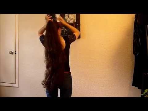 Long hair natural texture