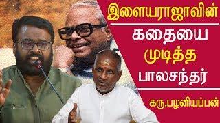 director karu palaniappan speech how k balachander ended ilayaraja music carrier