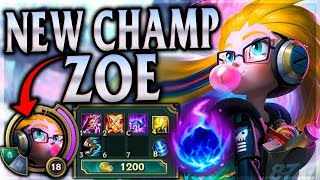 NEW CHAMPION TRICKS, HACKS, ROBS & ONE-SHOTS! Cyber Pop Zoe Mid - League of Legends Commentary